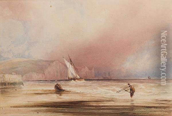 The Dover Coast Oil Painting - Anthony Vandyke Copley Fielding