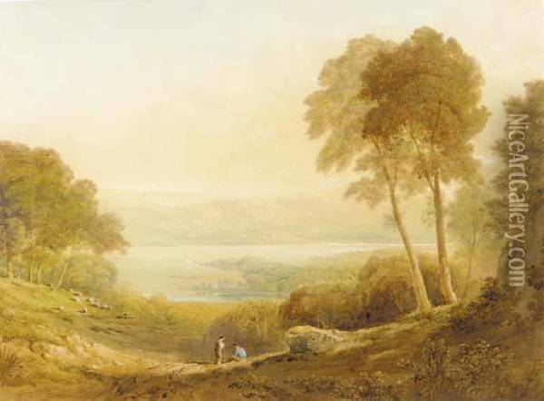Ennerdale, From High Point Farm Oil Painting - Anthony Vandyke Copley Fielding