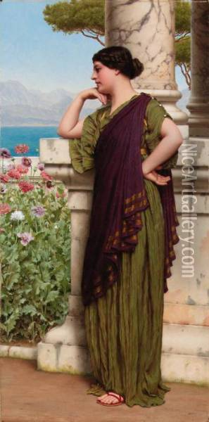 Tender Thoughts Oil Painting - John William Godward