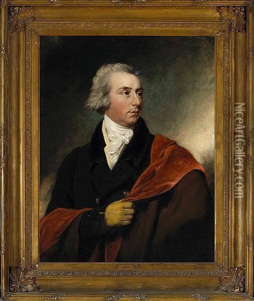 A Portrait Of A Gentleman, Half-length, Thought To Be Lord Liverpool Oil Painting - Sir Thomas Lawrence