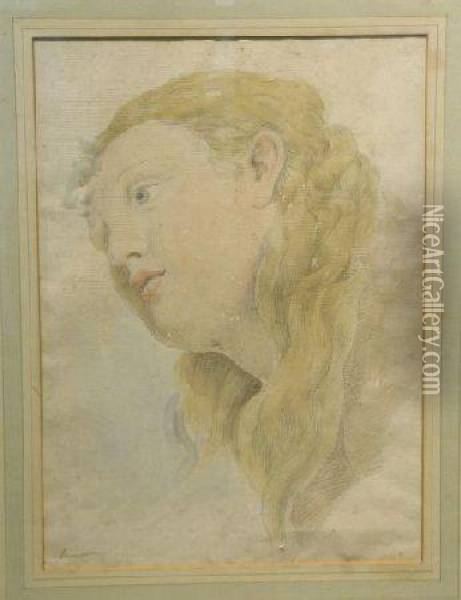 Head Study Of A Woman Oil Painting - Sir Thomas Lawrence