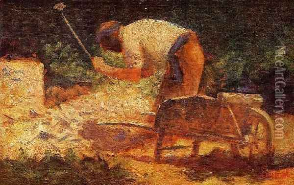 The Stone Breaker3 Oil Painting - Georges Seurat