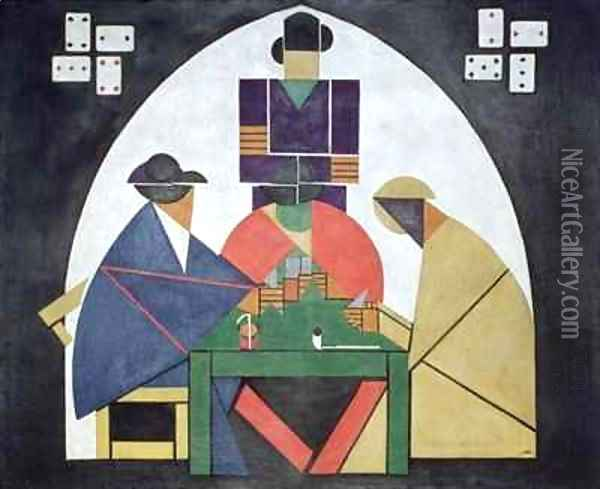 The Card Players Oil Painting - Theo van Doesburg