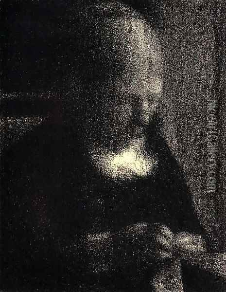 The Artists Mother Oil Painting - Georges Seurat