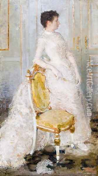 Madame Oscar Ghysbrecht Oil Painting - Theo van Rysselberghe