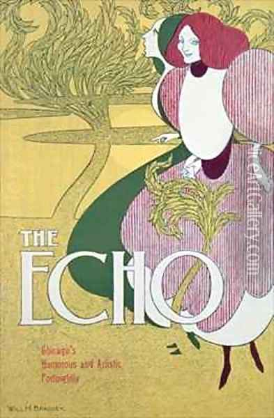 Front cover of 'The Echo' Oil Painting - William Bradley
