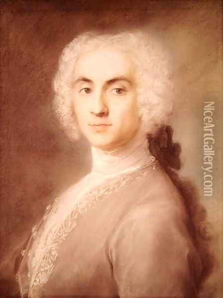 Portrait of a Man Oil Painting - Rosalba Carriera