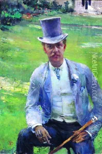 Octave Maus Oil Painting - Theo van Rysselberghe