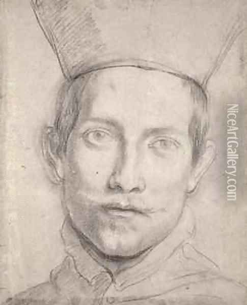 Portrait of a Cardinal Oil Painting - Domenico Zampieri (Domenichino)
