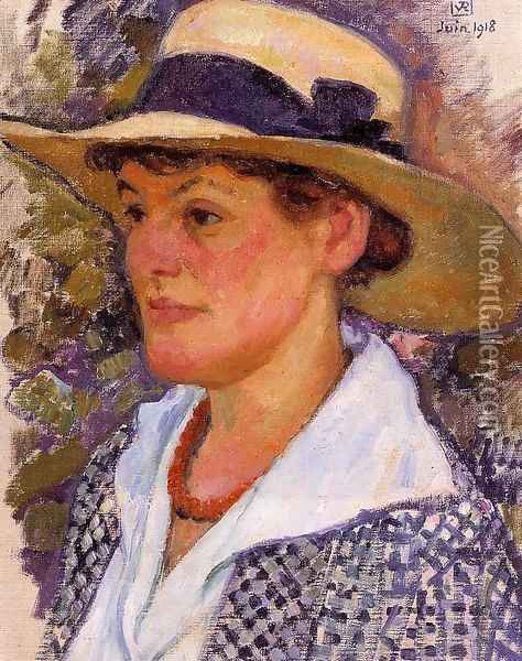 Portrait of a Woman Oil Painting - Theo van Rysselberghe
