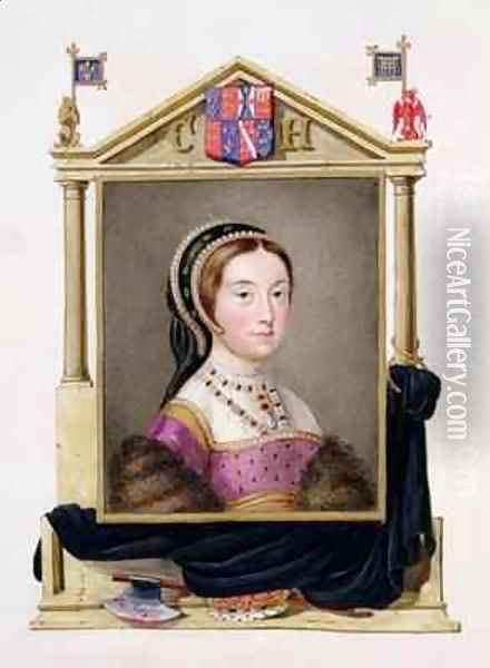 Portrait of Catherine Howard 5th Queen of Henry VIII from Memoirs of the Court of Queen Elizabeth Oil Painting - Sarah Countess of Essex