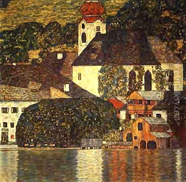 Church In Unterach On The Attersee Oil Painting - Gustav Klimt