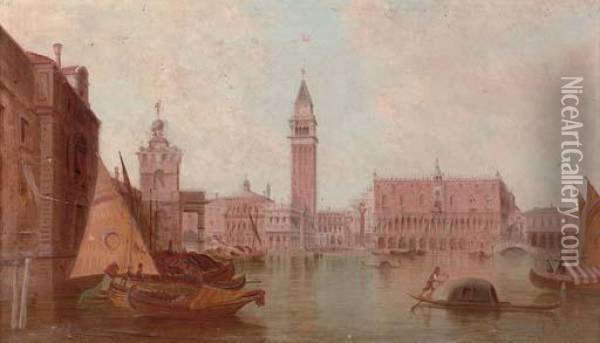 The Ducal Palace Oil Painting - Alfred Pollentine