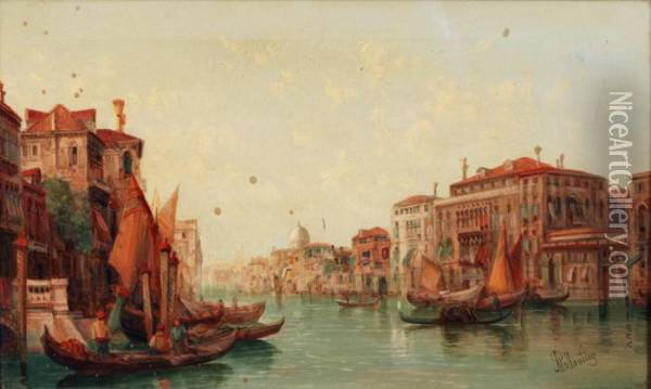 View Ofthe Grand Canal Oil Painting - Alfred Pollentine