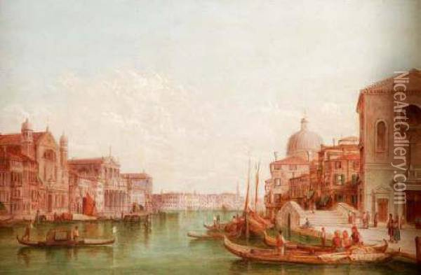 The Grand Canal Oil Painting - Alfred Pollentine