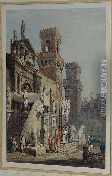 Gates Of The Arsenal At Venice Oil Painting - Samuel Prout