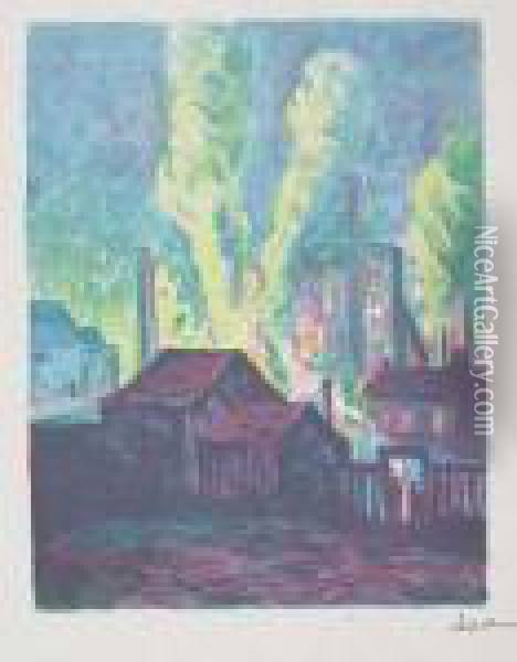 Usines A Charleroi Oil Painting - Maximilien Luce