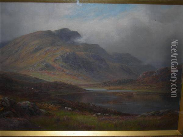 Lochachray,perthshire Oil On Canvas Signed Lower Left 54cm X80cm Oil Painting - Joseph Mallord William Turner