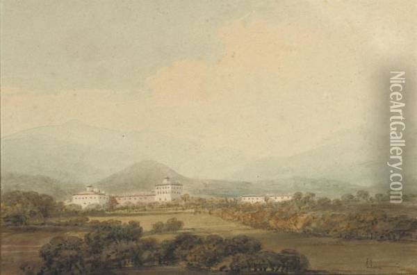 The Bishop's Palace At Brescia, Northern Italy Oil Painting - Joseph Mallord William Turner