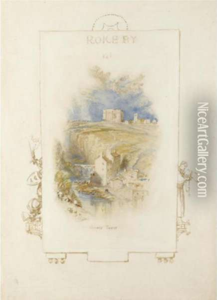 Bowes Tower, Yorkshire Oil Painting - Joseph Mallord William Turner