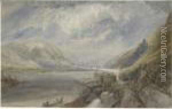 The Junction Of The Lahn And The Rhine Oil Painting - Joseph Mallord William Turner