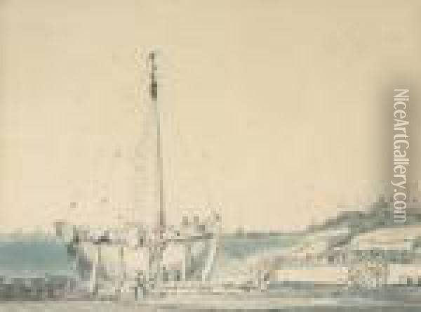 Boat-building At Dover Oil Painting - Joseph Mallord William Turner