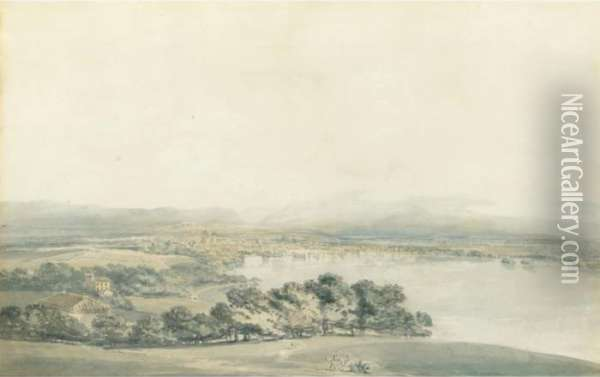 A View Of Geneva Oil Painting - Joseph Mallord William Turner