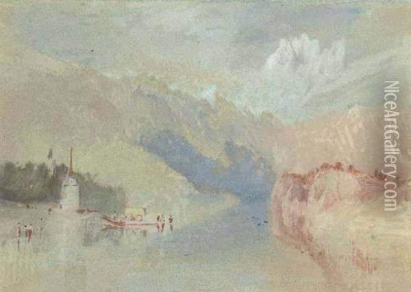A View On The Rhine Oil Painting - Joseph Mallord William Turner