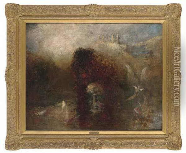 Queen Mab's Cave Oil Painting - Joseph Mallord William Turner