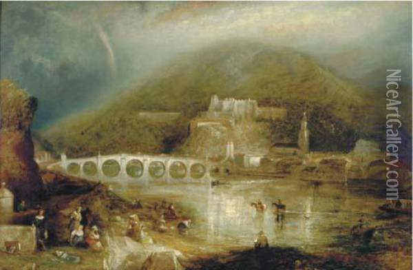 Heidelberg Oil Painting - Joseph Mallord William Turner