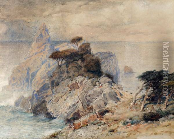 Ocean View, Together With Another Watercolor And Two Prints By Turner Oil Painting - Joseph Mallord William Turner