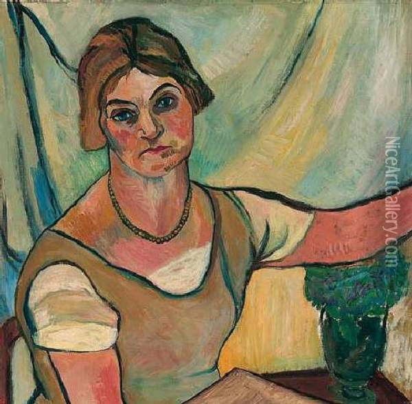 Femme Oil Painting - Suzanne Valadon