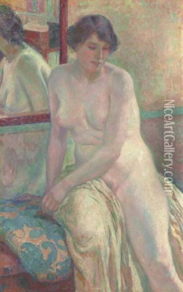 Venitienne, I (marcella) Oil Painting - Theo van Rysselberghe