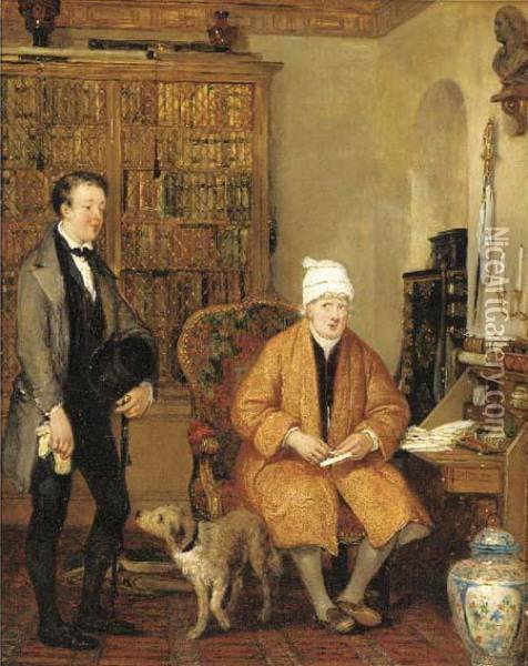 The Letter Of Introduction Oil Painting - Sir David Wilkie