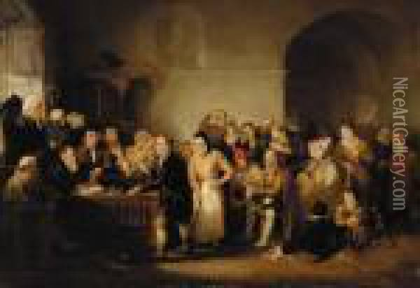A Court Scene In Scotland Oil Painting - Sir David Wilkie