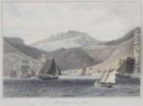 Views Of The Isles Of Skye Oil Painting - William Daniell RA