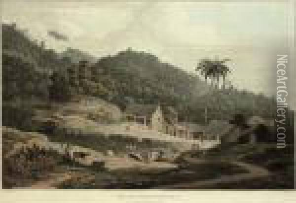 View Of The Chinese Mills, Penang Oil Painting - William Daniell RA