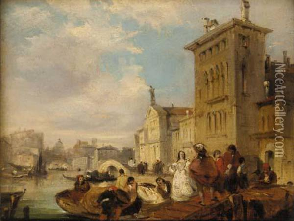 The Grand Canal, Venice Oil Painting - Edward Pritchett
