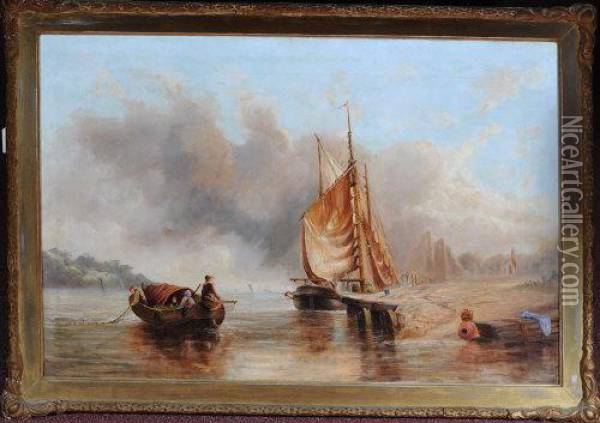 A Fishing Boat Oil Painting - William Edward Webb