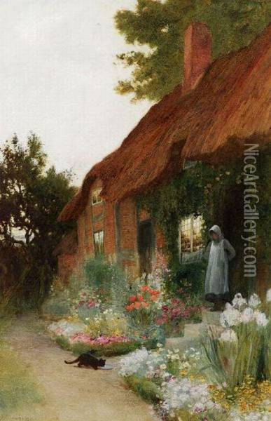 Cottage At Witley Oil Painting - Helen Mary Elizabeth Allingham