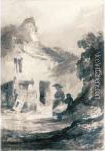 An Old Cottage Dolgelly Oil Painting - John Sell Cotman