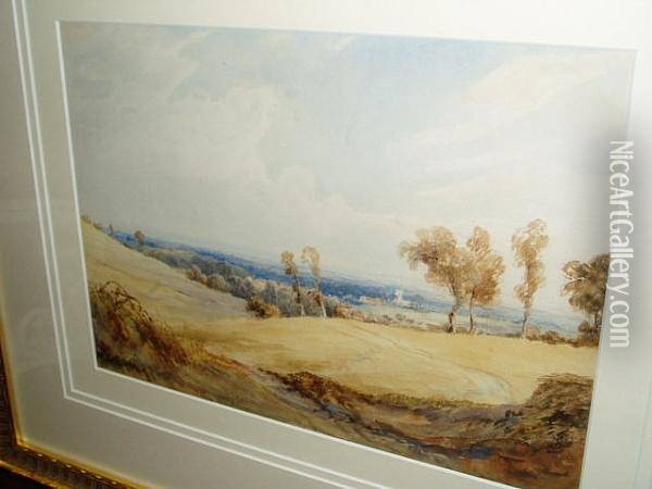 Sussex Landscape Oil Painting - Anthony Vandyke Copley Fielding