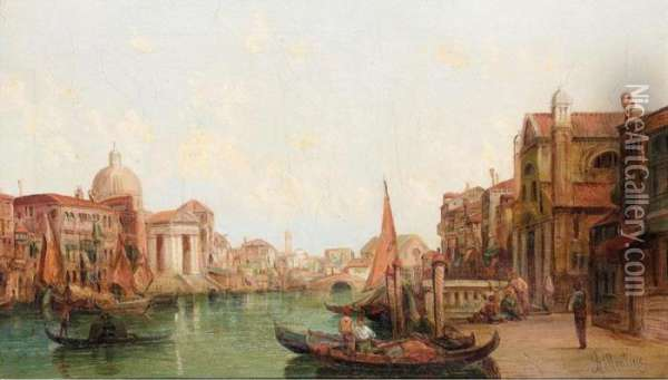 Venice Oil Painting - Alfred Pollentine