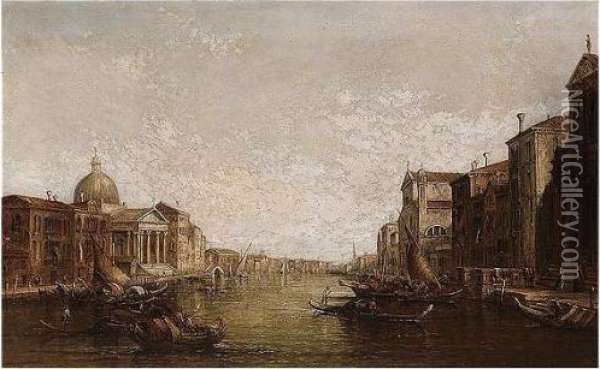 The Grand Canal, Venice Oil Painting - Alfred Pollentine
