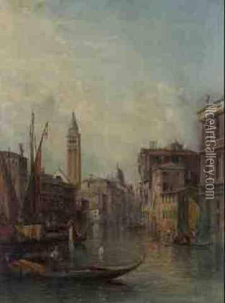 Grand Canal Oil Painting - Alfred Pollentine