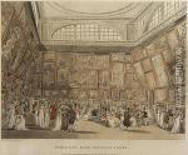 Exhibition Room, Somerset House Oil Painting - Thomas Rowlandson