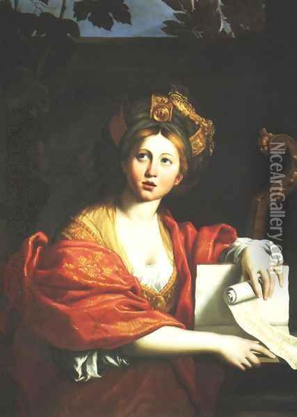 Cumaean Sibyl Oil Painting - Domenico Zampieri (Domenichino)