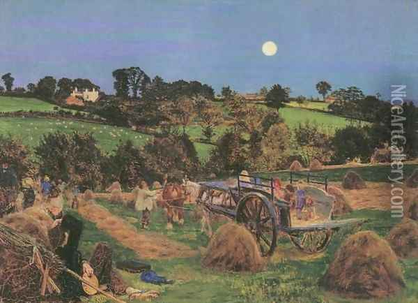 The Hayfield Oil Painting - Ford Madox Brown