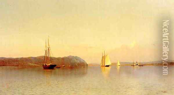 Late Afternoon, Haverstraw Bay Oil Painting - Francis Augustus Silva