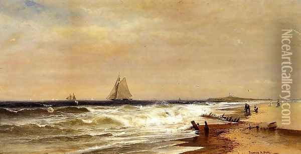 Point Judith, Rhode Island Oil Painting - Francis Augustus Silva